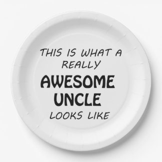 Awesome Uncle Paper Plate
