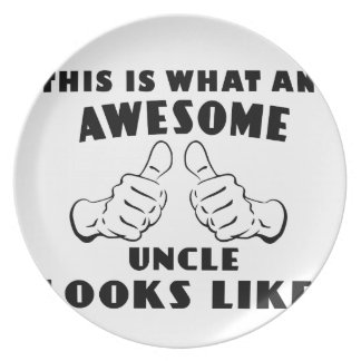 Awesome uncle plate