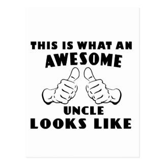 Awesome uncle postcard