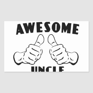 Awesome uncle rectangular sticker