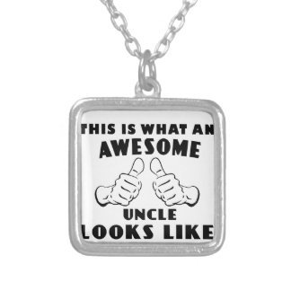 Awesome uncle silver plated necklace