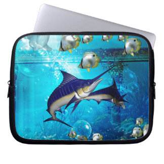Awesome underwater world laptop sleeves