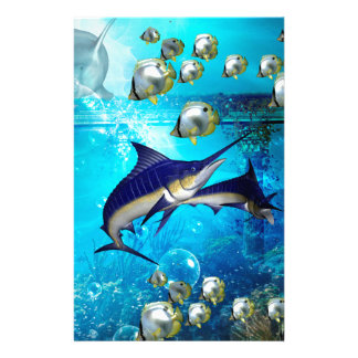 Awesome underwater world personalized stationery