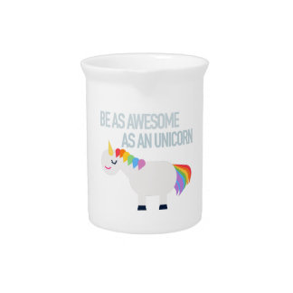 Awesome unicorn porcelain pitcher
