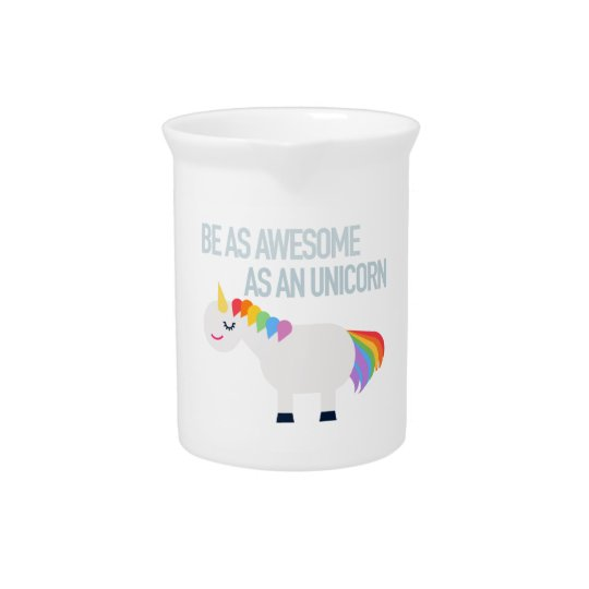 Awesome unicorn porcelain pitcher