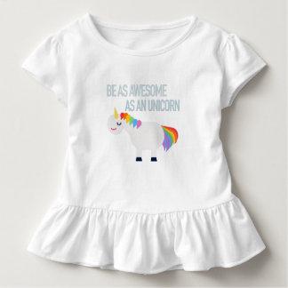 Awesome Unicorn Toddler Ruffle Tee