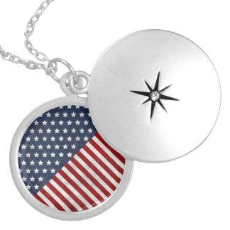 awesome USA flag grunge stars stripes american Pendants
