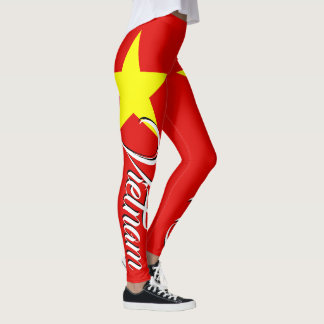 Awesome Vietnam Flag Star Leggings