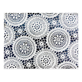Awesome Vintage Crocheted Doily Design Postcard
