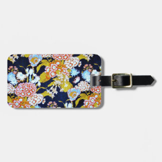 Awesome Vintage Flower Photo Design Luggage Tag