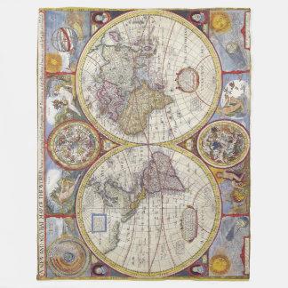 Awesome Vintage old world Maps Antique maps Fleece Blanket