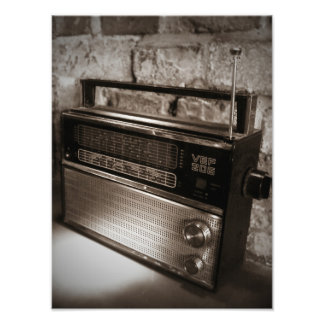 Awesome Vintage Radio Print