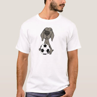 Awesome Weimaraner Dog Playing Soccer T-Shirt