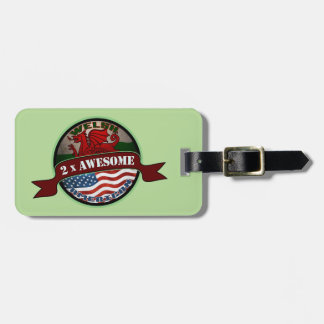 Awesome Welsh American Luggage Tag Template