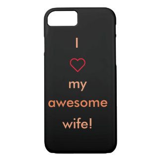 Awesome wife iPhone case