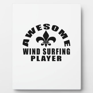 AWESOME WIND SURFING PLAYER DISPLAY PLAQUE