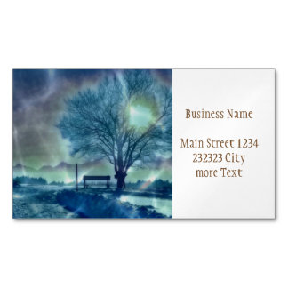 Awesome winter Impression Magnetic Business Card