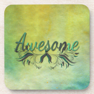 Awesome with Flourishes Beverage Coasters