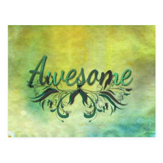 Awesome with Flourishes Postcard