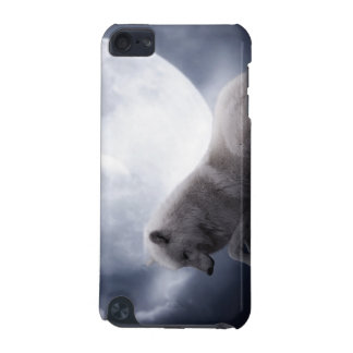 Awesome Wolf and Moon White Wolf iPod Touch (5th Generation) Cover