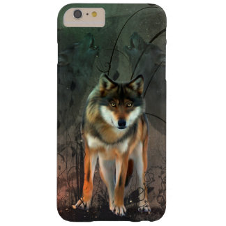 Awesome wolf on vintage background barely there iPhone 6 plus case