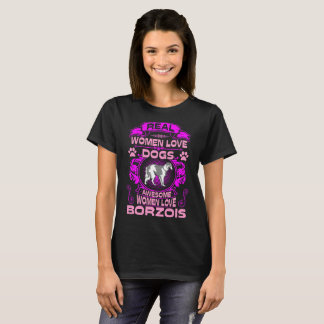 Awesome Women Love Borzois Dog Pets Tshirt