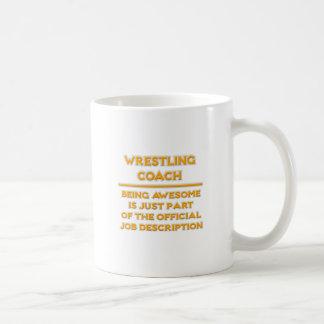 Awesome Wrestling Coach .. Job Description Coffee Mug