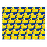 Awesome Yellow Rubber Ducky Wallpaper Design Postcard