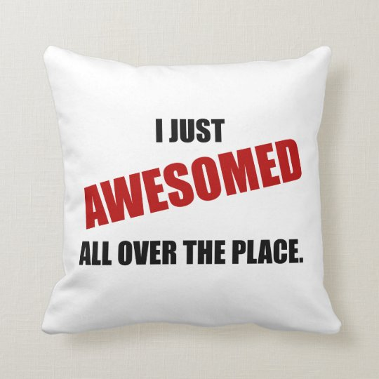 Awesomed All Over The Place Throw Pillow