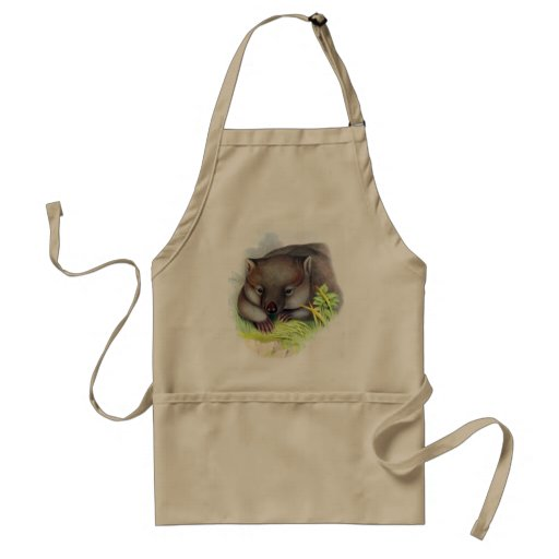 Awesomely cute Australian animal wombat vintage Aprons
