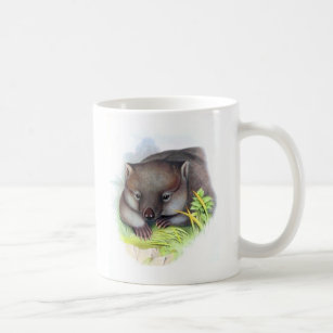 Awesomely cute Australian animal wombat vintage Coffee Mug