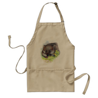 Awesomely cute Australian animal wombat vintage Standard Apron