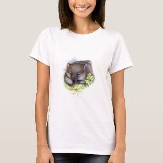 Awesomely cute Australian animal wombat vintage T-Shirt
