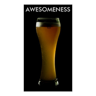 AWESOMENESS beer poster