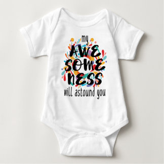 Awesomeness (Black Text) Baby Bodysuit
