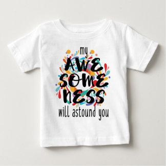 Awesomeness (Black Text) Baby T-Shirt
