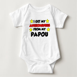 Awesomeness From My Papou Baby Bodysuit