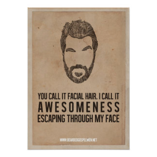 Awesomeness From the Face Poster