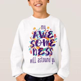 Awesomeness (Purple Text) Sweatshirt