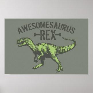 Awesomesaurus Rex Poster