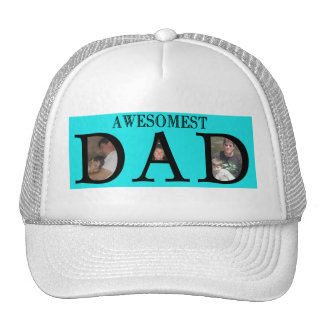 Awesomest Dad Fathers Day Add Your Pictures Logo Cap