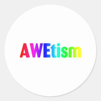AWEtism Round Sticker