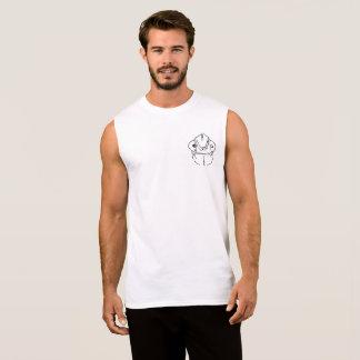 Awkward chameleon graphic pocket design sleeveless shirt