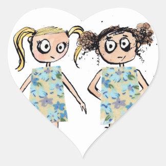 Awkward - like when you wear the same dress... heart sticker