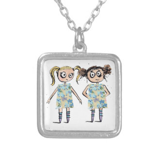 Awkward - like when you wear the same dress... silver plated necklace