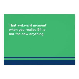 Awkward Moment Birthday Card - Any Year 50s 13 Cm X 18 Cm Invitation Card