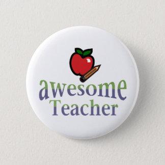 awsome Teacher 6 Cm Round Badge