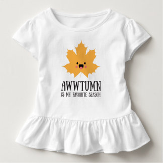 Awwtumn is my Favorite Season | Baby Ruffle Shirt