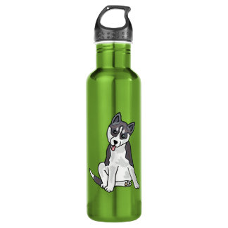 AX- Awesome Siberian Husky 710 Ml Water Bottle