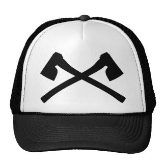 ax axe crossed icon hat